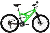 Bicicleta Aro 26 Full-S Dupla Suspensão Max 260 Freio a Disco Verde - Dalannio Bike -