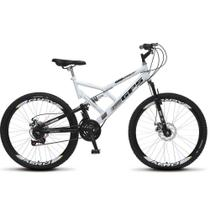 Bicicleta Aro 26 Full-s GPS Aero Freio a Disco Branco - Colli Bikes -