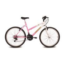 Bicicleta aro 26 live branco e rosa verden bikes -