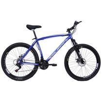 Bicicleta Aro 26 Masculina Alumínio 21V Freio a Disco Pegasus Azul - Dalannio Bike