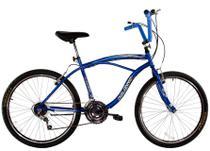 Bicicleta Aro 26 Masculina Beach 18 Marchas Azul - Dalannio Bike