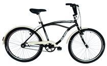 Bicicleta Aro 26 Masculina Beach Retrô Vintage Preta - Dal'Annio Bike