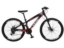 Bicicleta Aro 26 Mountain Bike Colli Viking X - Freio a Disco 21 Marchas Câmbio Shimano