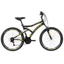 Bicicleta Aro 26 Mountain Bike Preta - 21 Marchas  - Caloi -