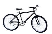Bicicleta aro 26 mtb onix sem marchas cor preto adesivo laranja -