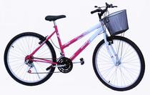 Bicicleta aro 26 onix fem mtb 18m convencional cor pink -