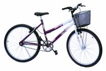 Bicicleta aro 26 onix fem s/marcha convencional cor violeta -