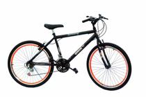 Bicicleta aro 26 onix masc c/aero cor neon laranja -