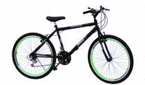 Bicicleta aro 26 onix masc c/aero cor neon verde -