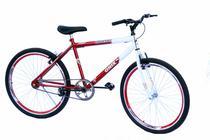 Bicicleta aro 26 onix masc s/marcha com aero cor vermelho -
