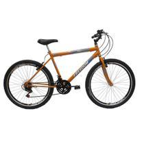 Bicicleta Aro 26 Onix Masculina 18 Marchas Laranja Freedom Bike -