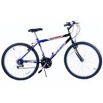 Bicicleta Aro 26 Passeio 18 Marchas Stroll Azul com Preto - Dalannio Bike