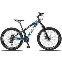Bicicleta Aro 26 Quadro 13 Freio Disco Vmaxx Freeride Tuff 21v Alumínio Preto Azul - Viking -