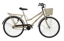 Bicicleta aro 26 Retrô classic new bike moderna Bege -