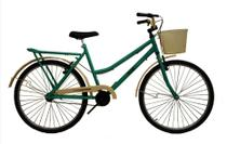 Bicicleta aro 26 Retrô classic new bike moderna Verde -