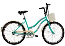 Bicicleta Aro 26 Retrô Vintage Feminina Beach Sem Marcha Azul Turquesa - Dal'Annio Bike