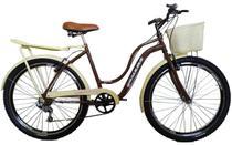 Bicicleta aro 26 retrôs classic Galileus 6 marchas -