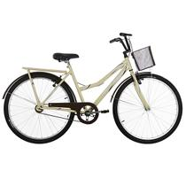 Bicicleta Aro 26 Ultra Bikes Tropical Summer V-Break Bege/Marrom