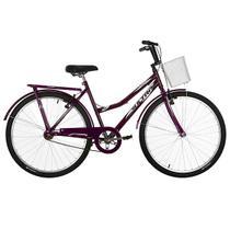 Bicicleta Aro 26 Ultra Bikes Tropical Summer V-Break Lilás -