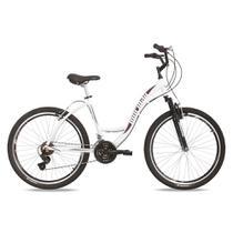 Bicicleta aro 26 urbana sunset mormaii alumínio + shimano + suspensão  branco-violeta 5184ad0237