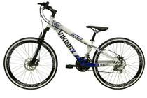 Bicicleta Aro 26 Vikingx Tuff 21v Alumínio Freio a Disco Aros Vmaxx Garfo Suspensão Freeride Dh -