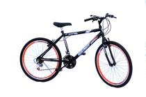 Bicicleta aro 26 wendy masc c/aero cor neon laranja -