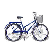 Bicicleta Aro 26 Wendy Modelo Poti  Com Cesta Azul -