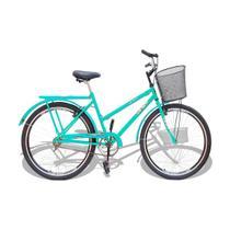 Bicicleta Aro 26 Wendy Modelo Poti  Com Cesta Ciano -