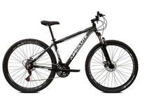 Bicicleta aro 29 Absolute Nero III 21V Freio Disco Hidráulico Suspensão Preto com Cinza Tam.15 Alumínio -