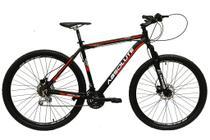 Bicicleta aro 29 Absolute Nero III 21V Freio Disco Hidráulico Suspensão Preto com Vermelho Tam.19 Alumínio -