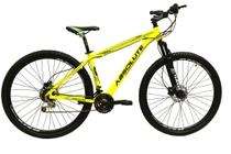 Bicicleta aro 29 Absolute Nero III Alumínio 21 marchas Freio a Disco Suspensão Amarela Tam.17 -