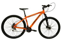 Bicicleta aro 29 Absolute Nero III Alumínio 21 marchas Freio a Disco Suspensão Laranja Tam.15 -