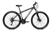 Bicicleta aro 29 Absolute Nero III Alumínio 21 marchas Freio a Disco Suspensão Preto/Azul Tam.15 -