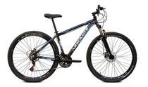 Bicicleta aro 29 Absolute Nero III Alumínio 21 marchas Freio a Disco Suspensão Preto/Azul Tam.17 -