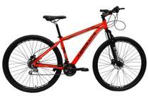 Bicicleta aro 29 Absolute Nero III Alumínio 21 marchas Freio a Disco Suspensão Vermelho Tam.15 -