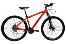 Bicicleta aro 29 Absolute Nero III Alumínio 21 marchas Freio a Disco Suspensão Vermelho - Tam 19 -