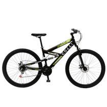 Bicicleta Aro 29 Aero Adulto Masculina Feminina  Colli 239 Freios a disco 21 marchas - Preta -