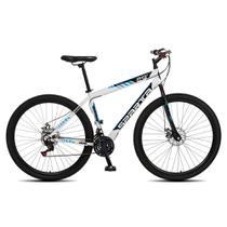 Bicicleta Aro 29 Aero Adulto Masculina Feminina Colli Sparta MTB 21 marchas Freios à disco - Branca -