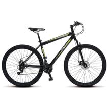 Bicicleta Aro 29 Aero Force One MTB Kit Shimano Preto Fosco - Colli Bikes