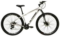 Bicicleta aro 29 Alfameq Atx Alumínio 21 Marchas Câmbios Shimano Freio a Disco Branca Tam.17 -