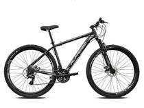 Bicicleta aro 29 Alfameq Atx Alumínio 21 Marchas Câmbios Shimano Freio a Disco Preto/Cinza Tam.21 -