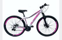 Bicicleta Aro 29 Alfameq Pandora Shimano Disc Susp Aluminio Branco/Pink - Ello Bike