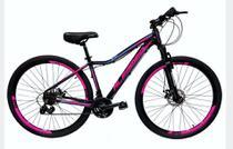 Bicicleta Aro 29 Alfameq Pandora Shimano Disc Susp Aluminio Preto/Pink - Ello Bike