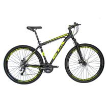 Bicicleta Aro 29 Alumínio GTA 24v Freio Disco T19 Preto/Amarelo Neon -