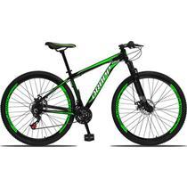 Bicicleta Aro 29 Aluminium 21v Freio a Disco Preto Verde Dropp -