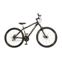 Bicicleta Aro 29 Carbon Steel MTB 21 Marchas com Suspensão Freio a Disco KLS -