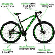 Bicicleta Aro 29 Dropp 21v Z3 Verde Shimano Freio a Disco Hidráulico -