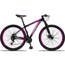 Bicicleta Aro 29 Dropp Aluminum 21v Freio a Disco Preto e Rosa -
