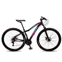Bicicleta Aro 29 Dropp Flower Alumínio 21v Freio a Disco -