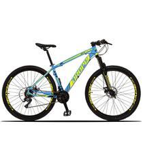 Bicicleta Aro 29 Dropp Z3-X 21v Freio a Disco Azul e Amarelo -